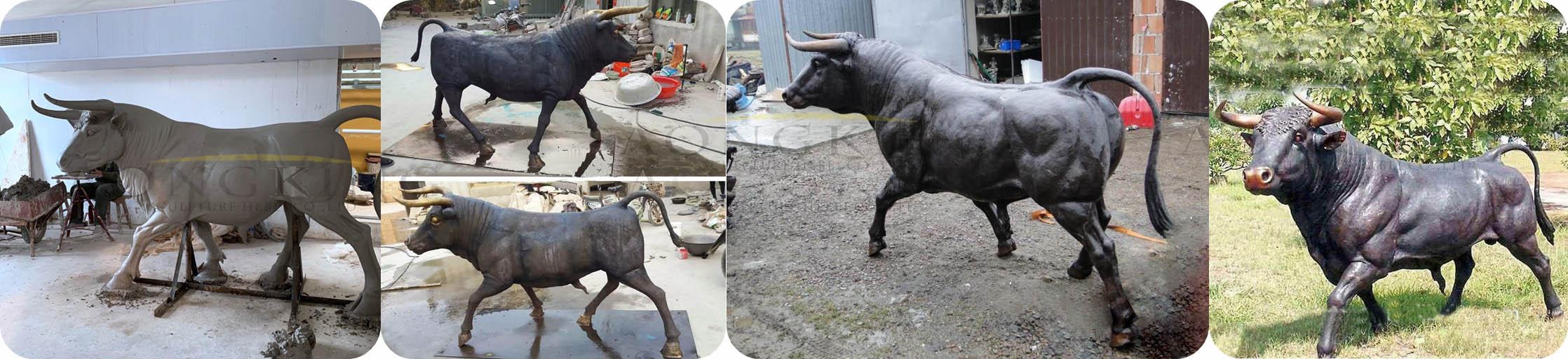 Spanish bullfight statue