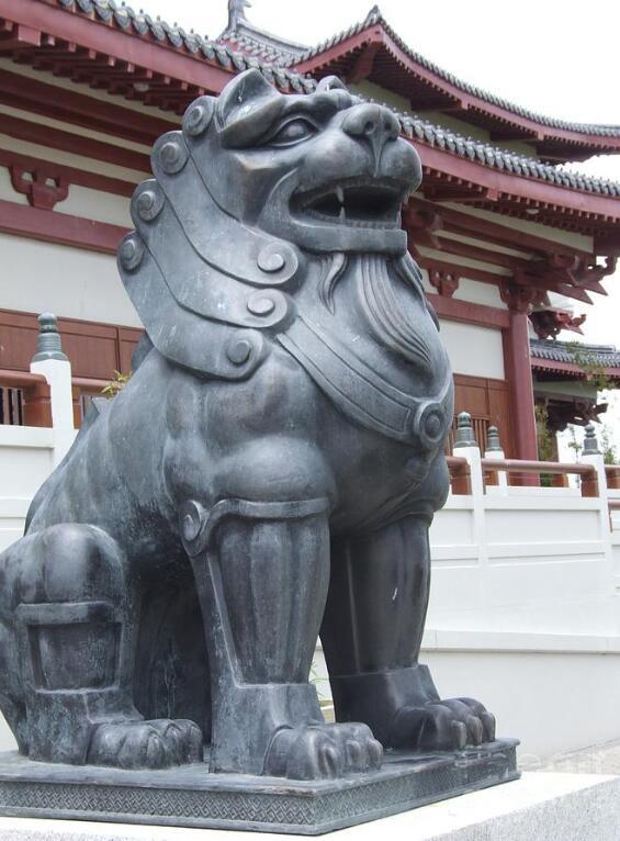 The magic lion sculpture