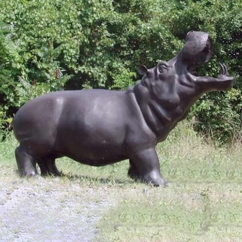 hippopotamus sculpture bronze statue