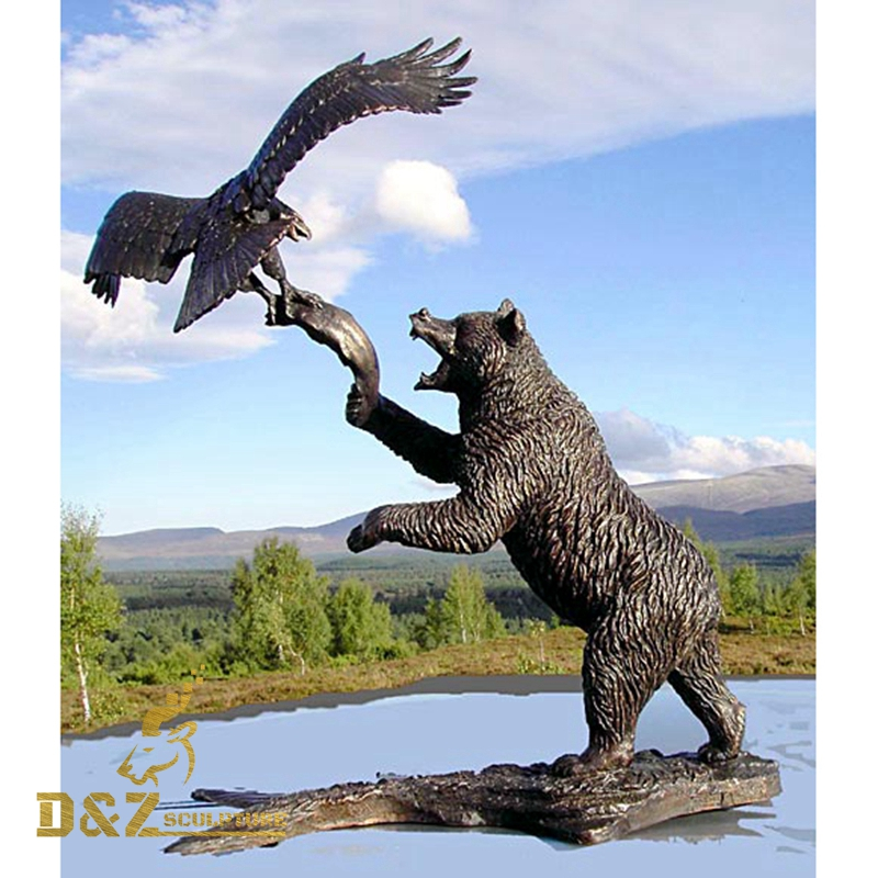 bear and eagle statue