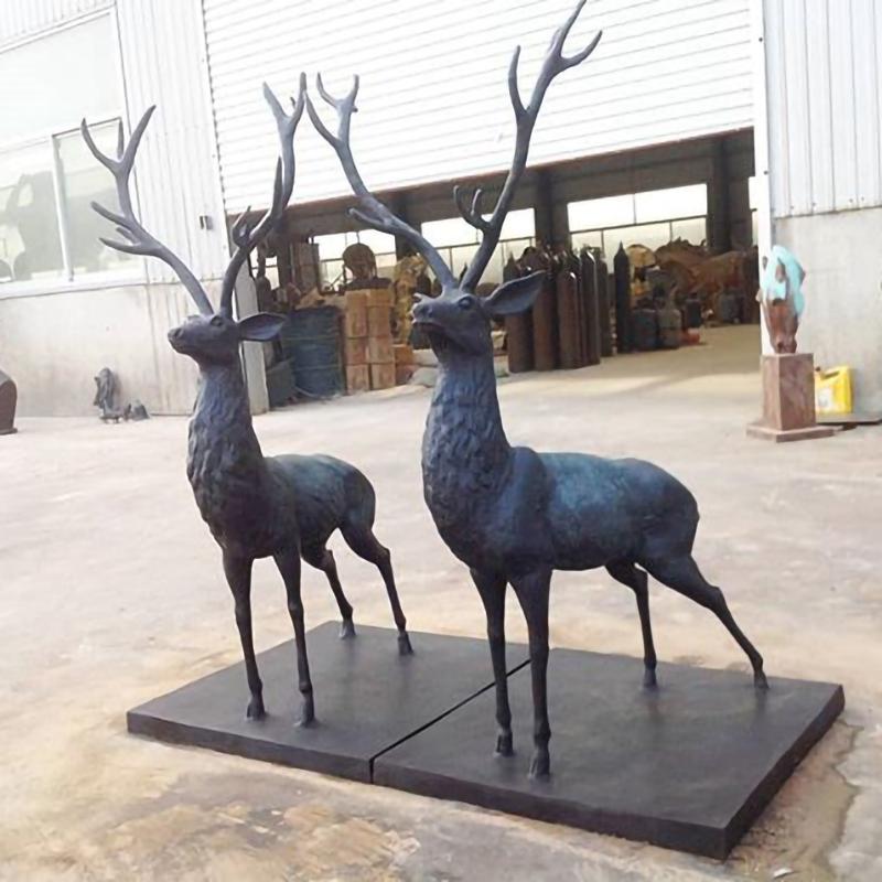 bronze sculpture elk