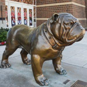 bronze sculpture bulldog
