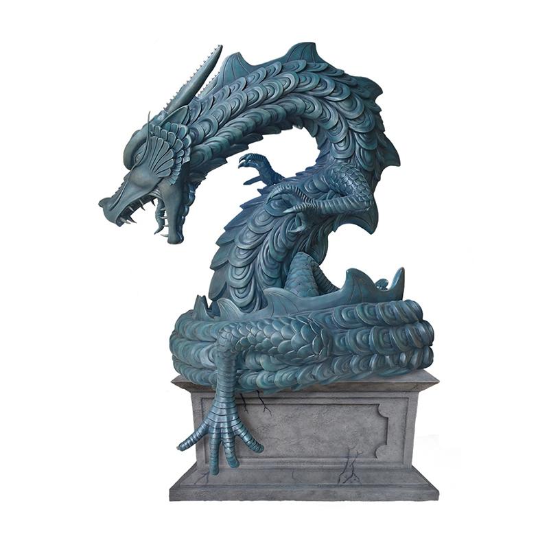 dragon bronze sculpture