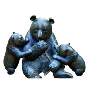 sculpture baby mother panda
