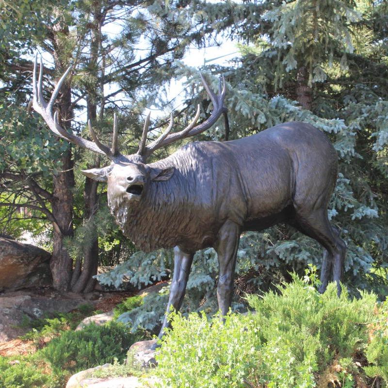 elk bronze sculpture