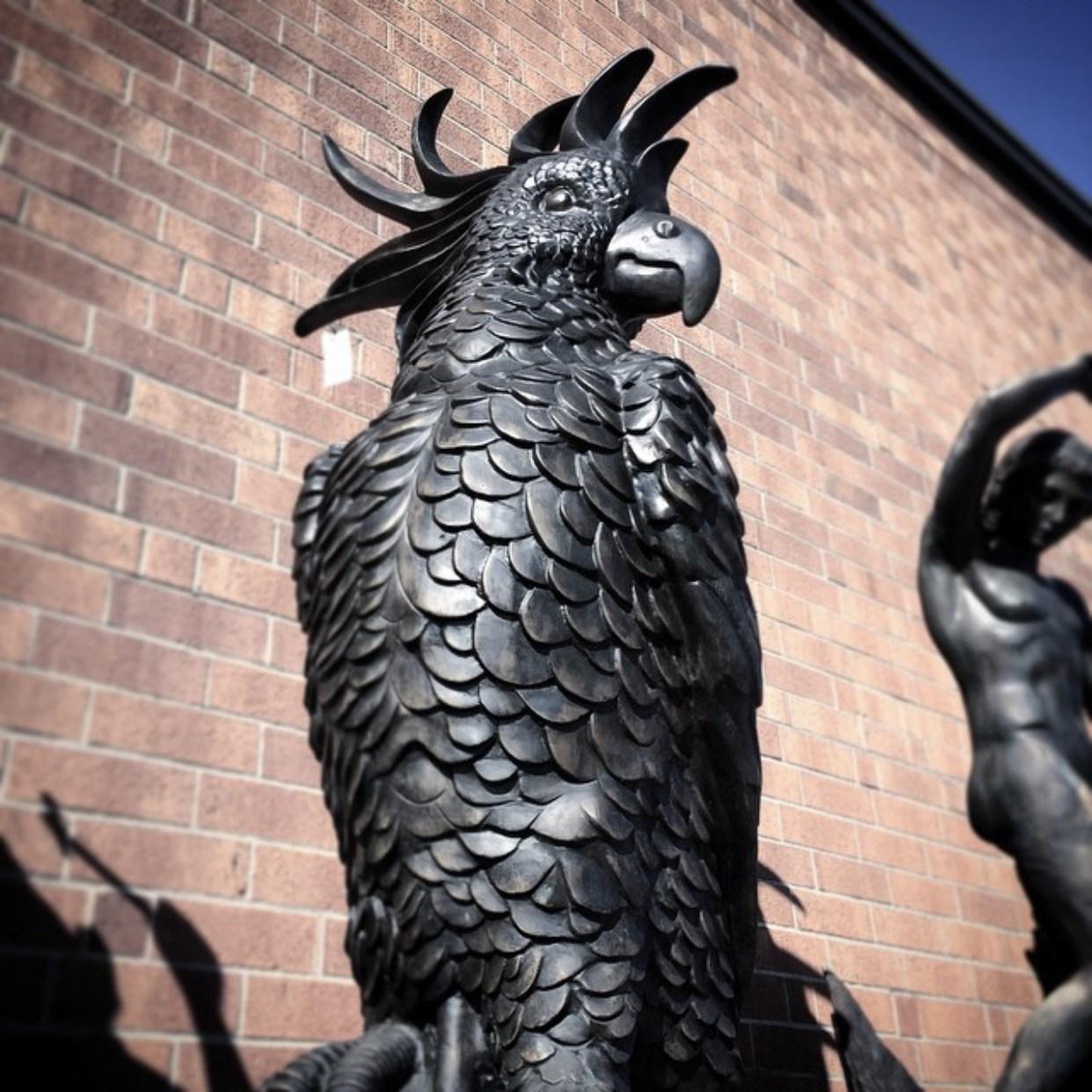 Modern Big Parrot Sculpture