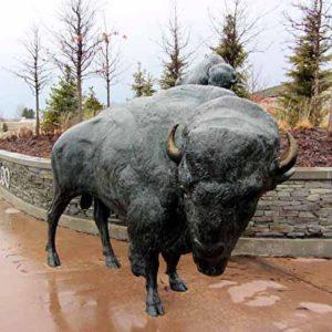 buffalo sculpture standing animal sculpture