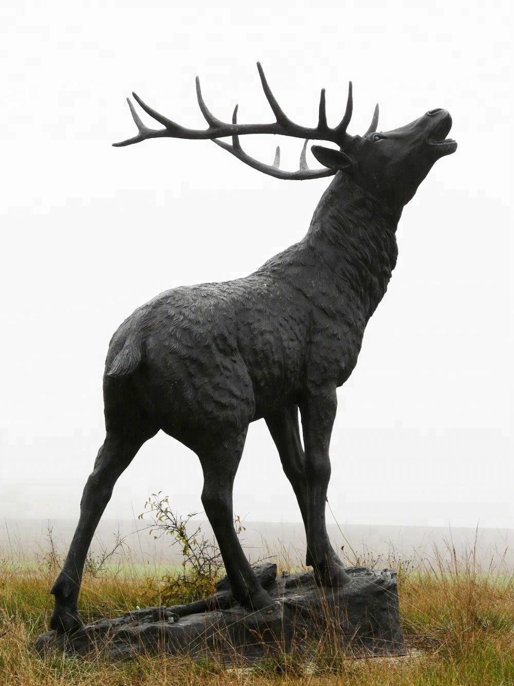 lovely elk sculpture