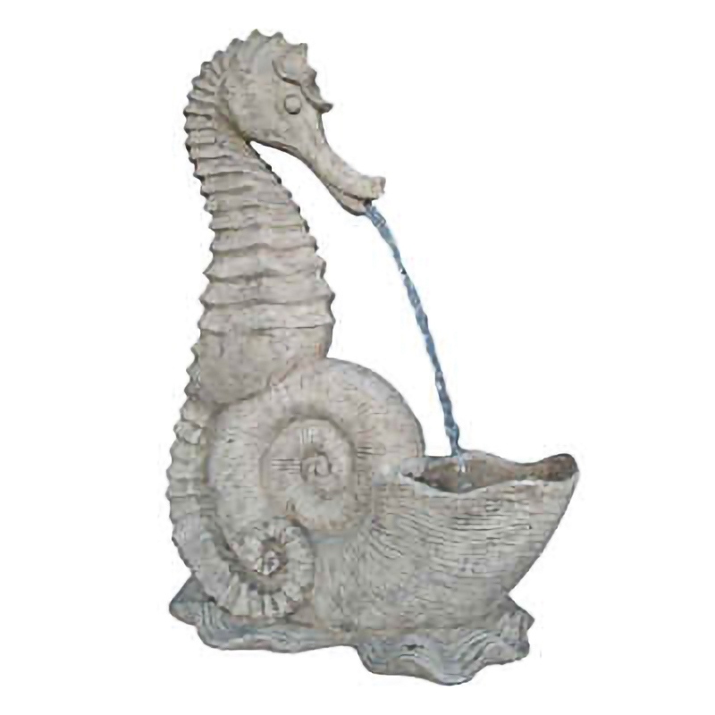 Seahorse fountain sculpture