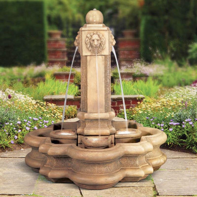 Four lions fountain stone