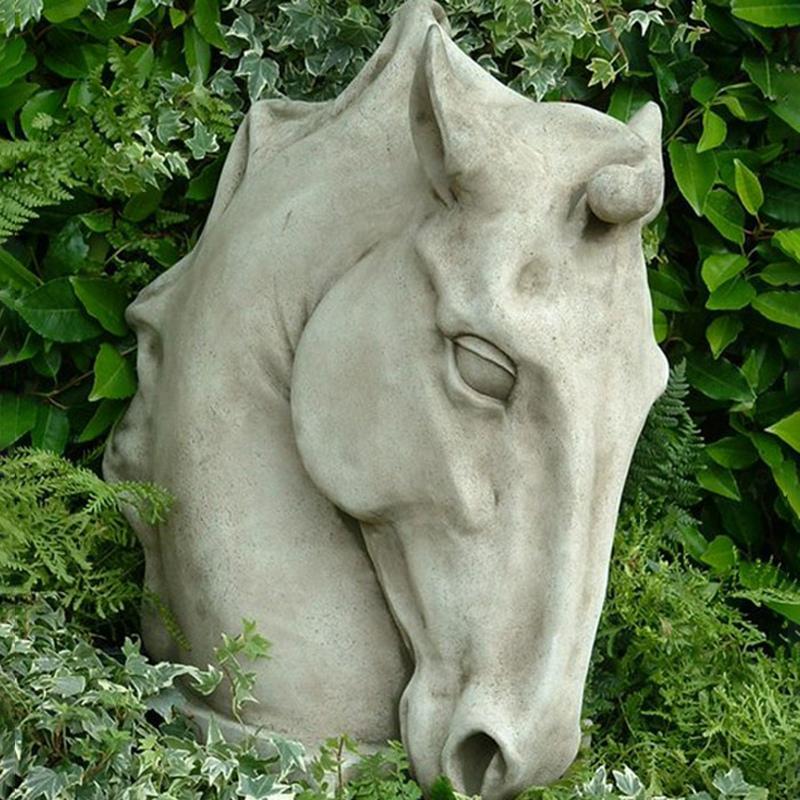 The horse head sculpture