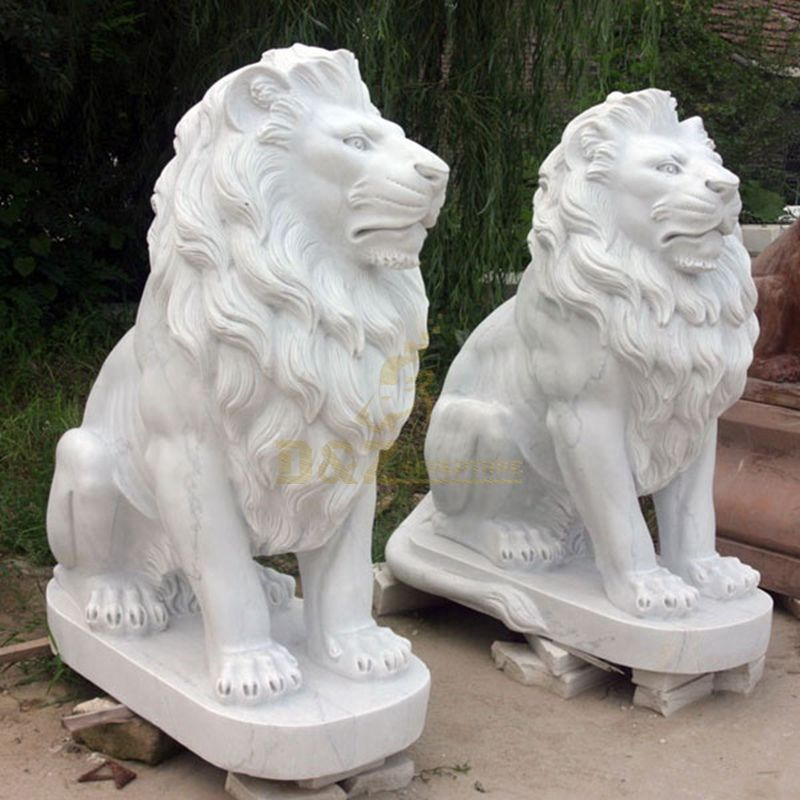 Lion sculpture wholesale white
