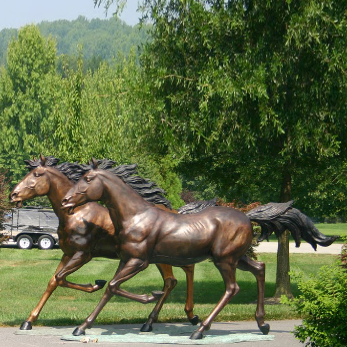 running horse sculpture