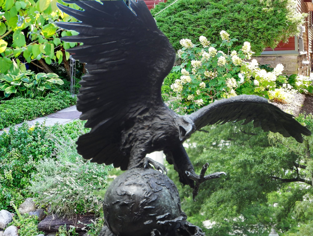 large outdoor eagle statues