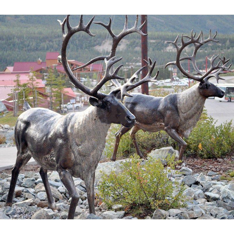 sculptures of deers
