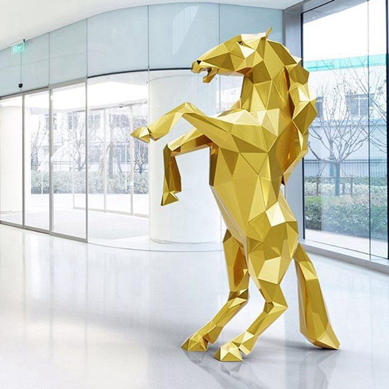 Golden horse sculpture