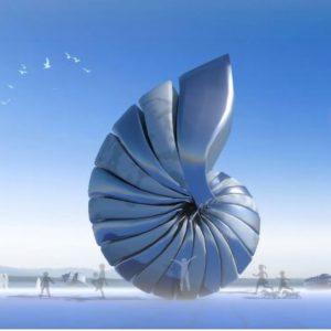 Abstract snail sculpture