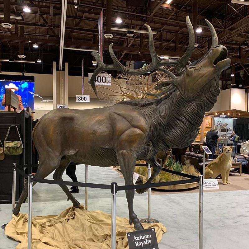 bronze art sculpture deer