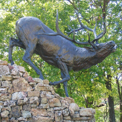 Bronze Elk Sculpture