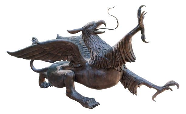 bronze bird statue