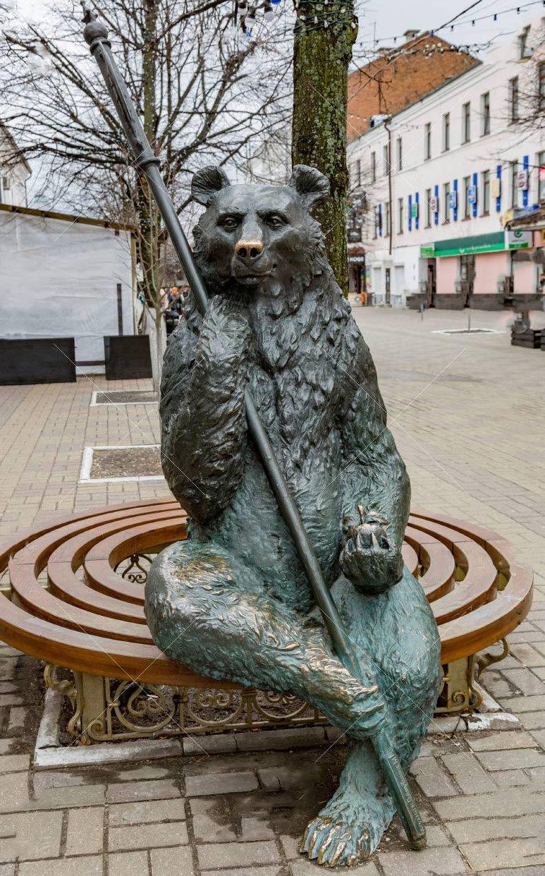 modern bear sculpture