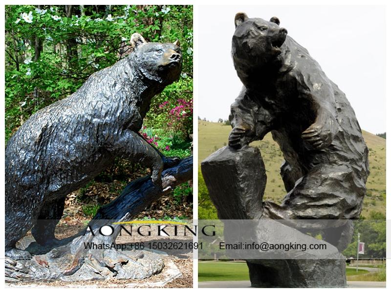 Outdoor Cast Bear Sculpture