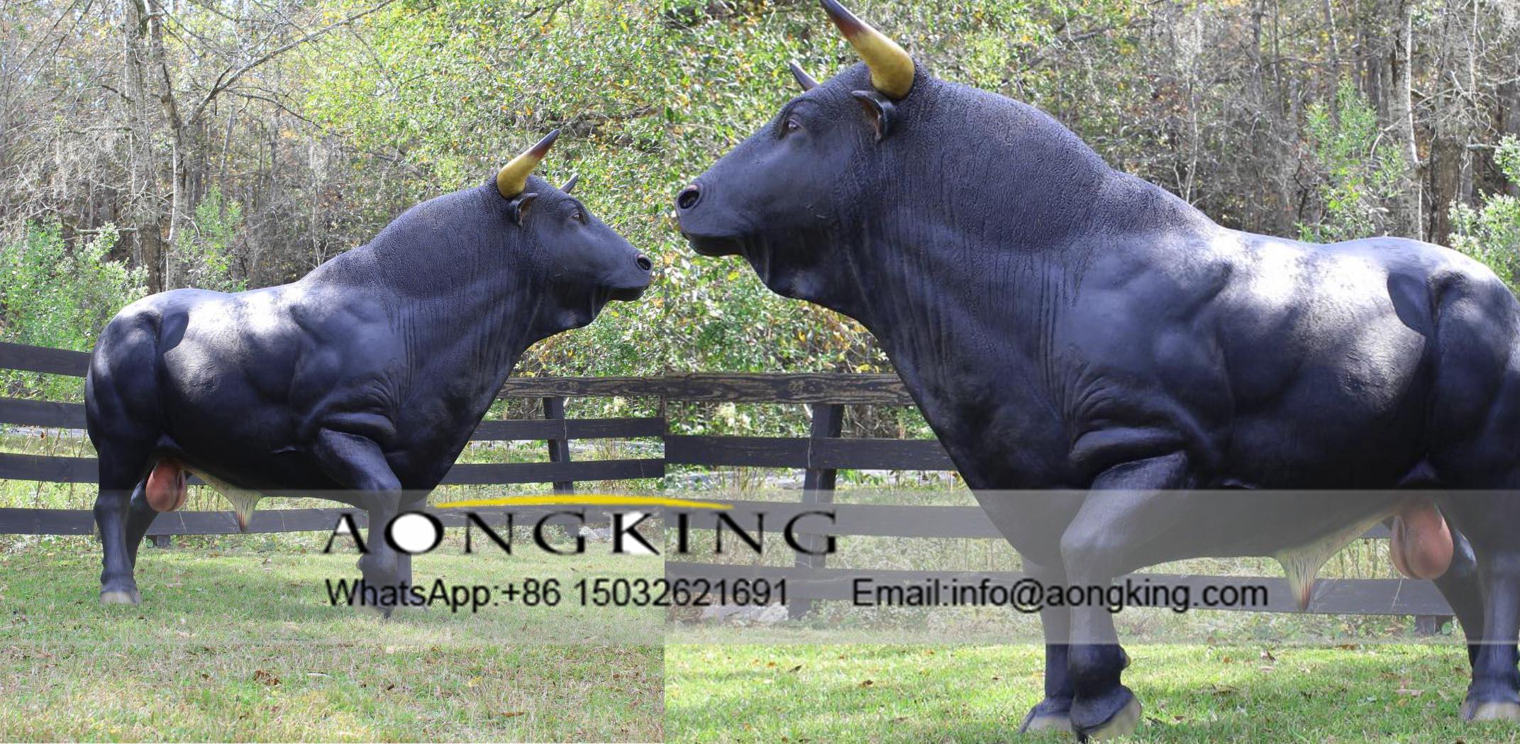 Statue Bronze oxen