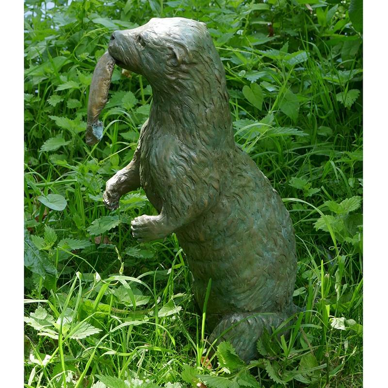 bronze weasel statue