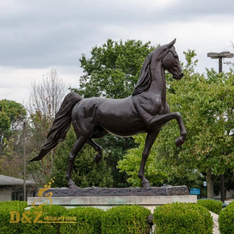 outdoor park horse sculpture