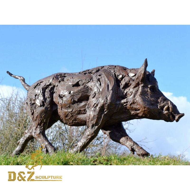Bronze Wild Boar sculpture