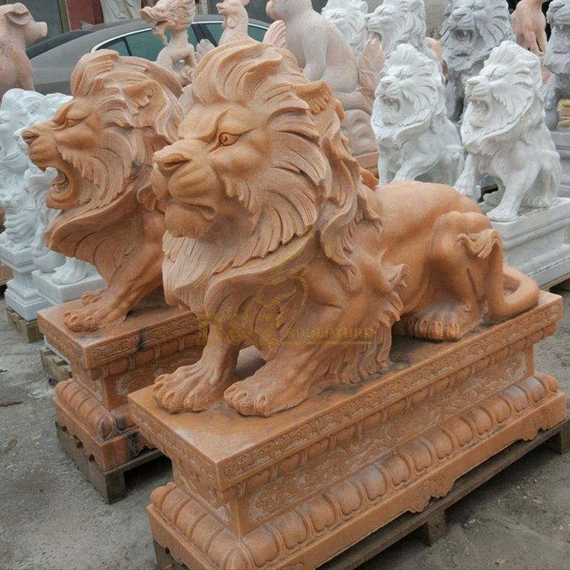 lions statue chinoise