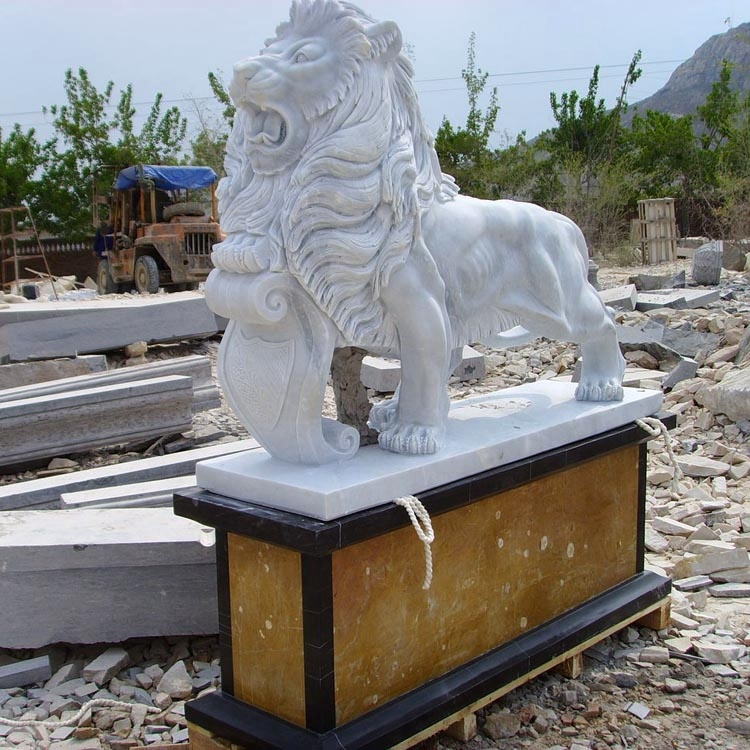 landscaping lion statue