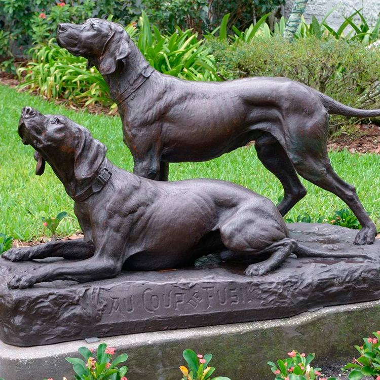 dog sculpture black