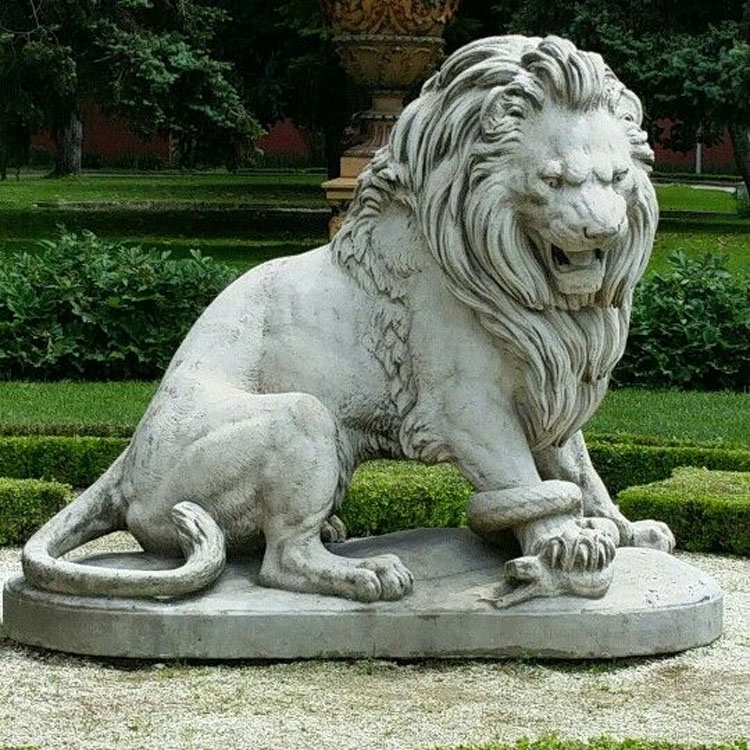 large garden lion statue