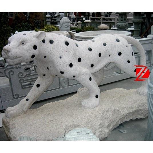 stone leopard sculpture