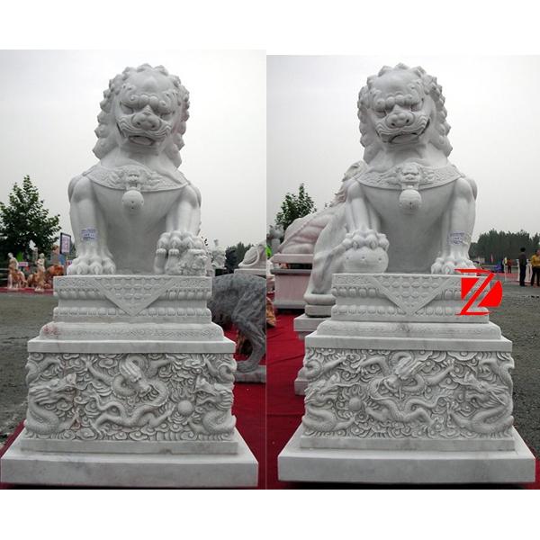 life-size lion statue