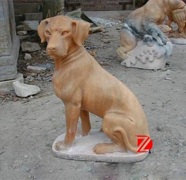gold dog statue