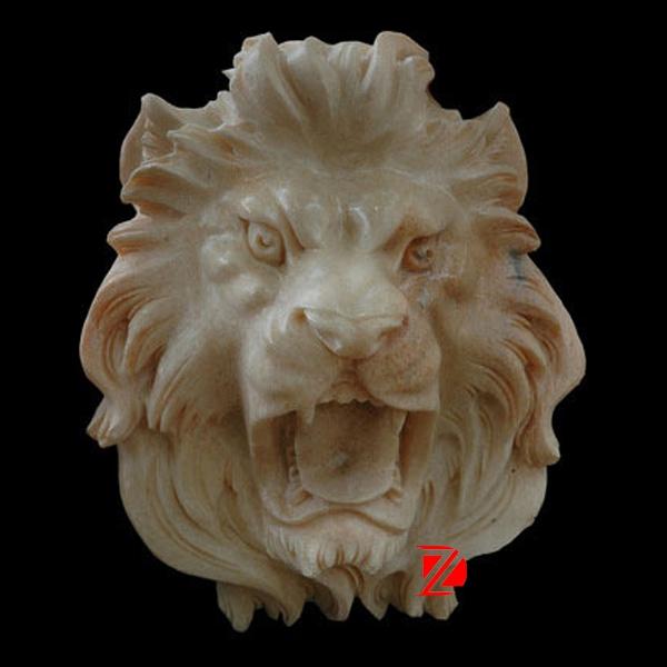 modern lion head sculpture