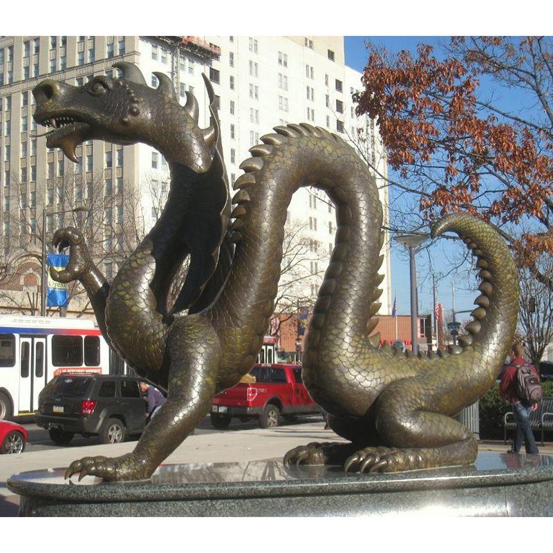 Dragon sculptures bronze cast