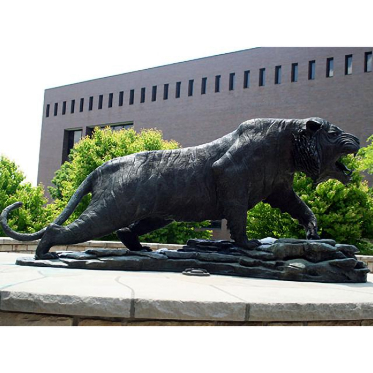 large bronze tiger statue