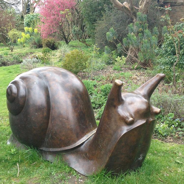 snail bronze sculpture