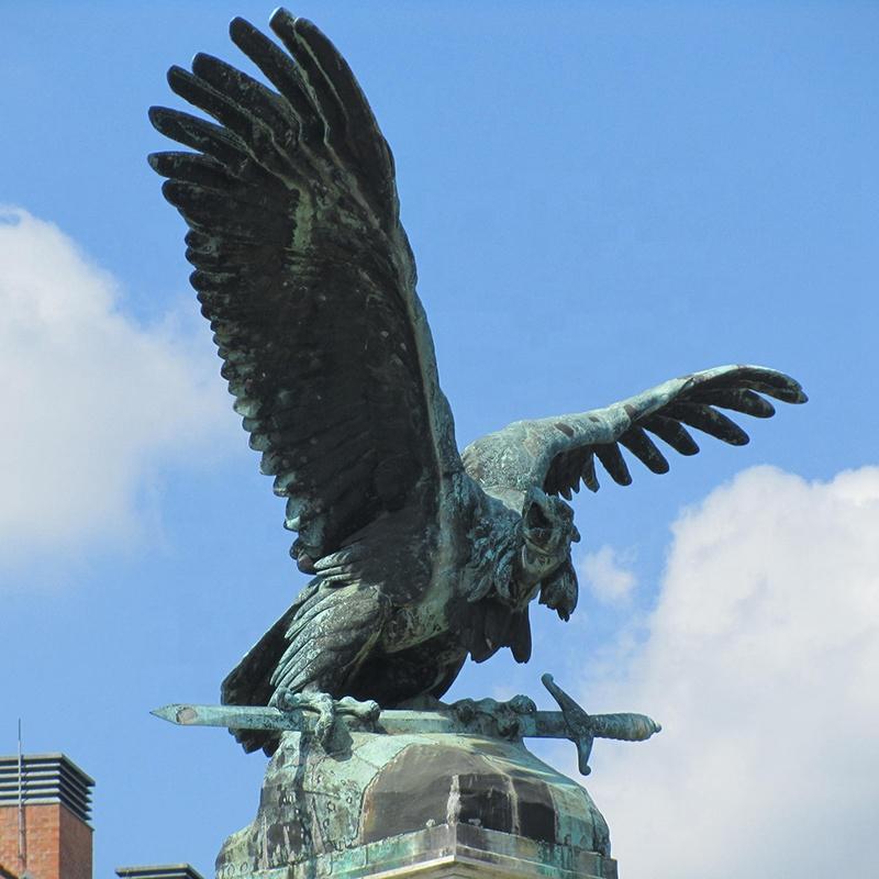 bronze big bird statue