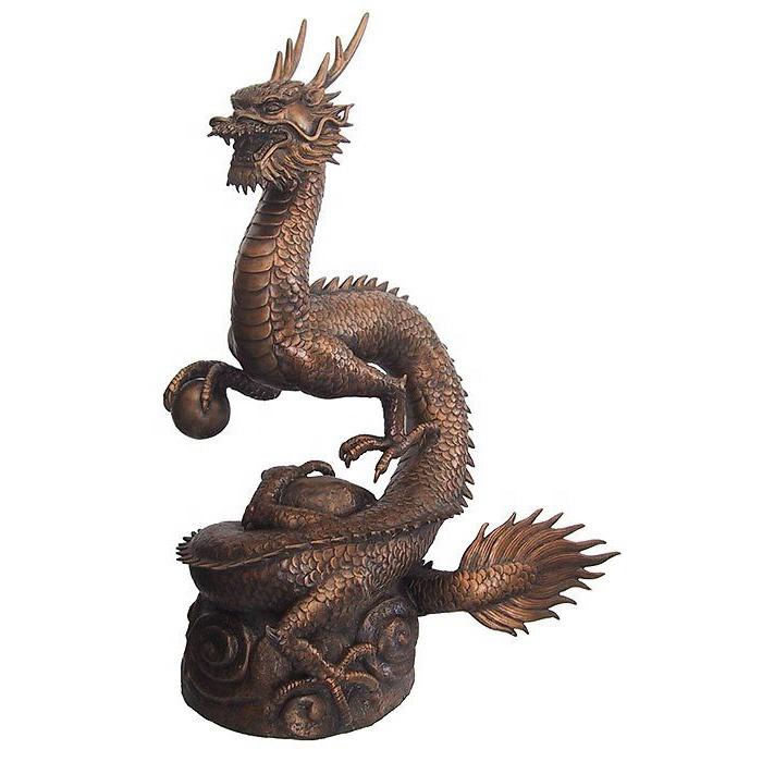 brass sculpture dragon