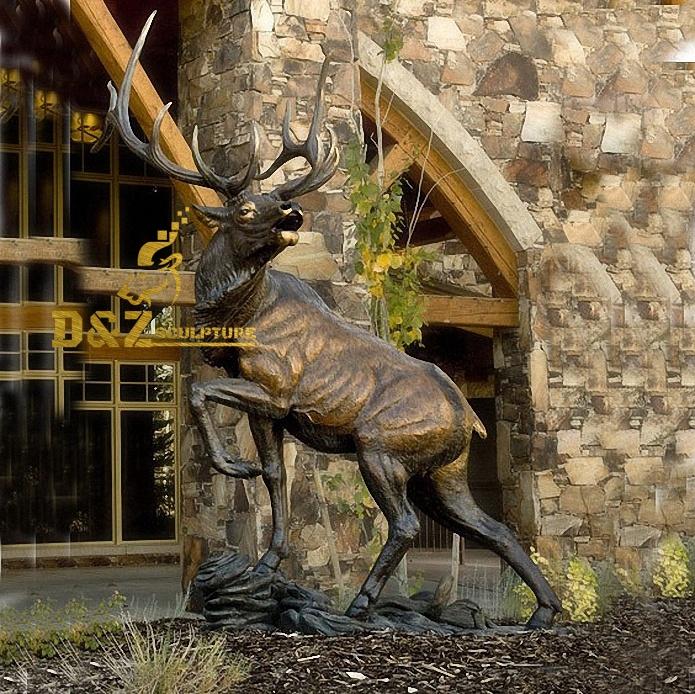 outdoor deer statue