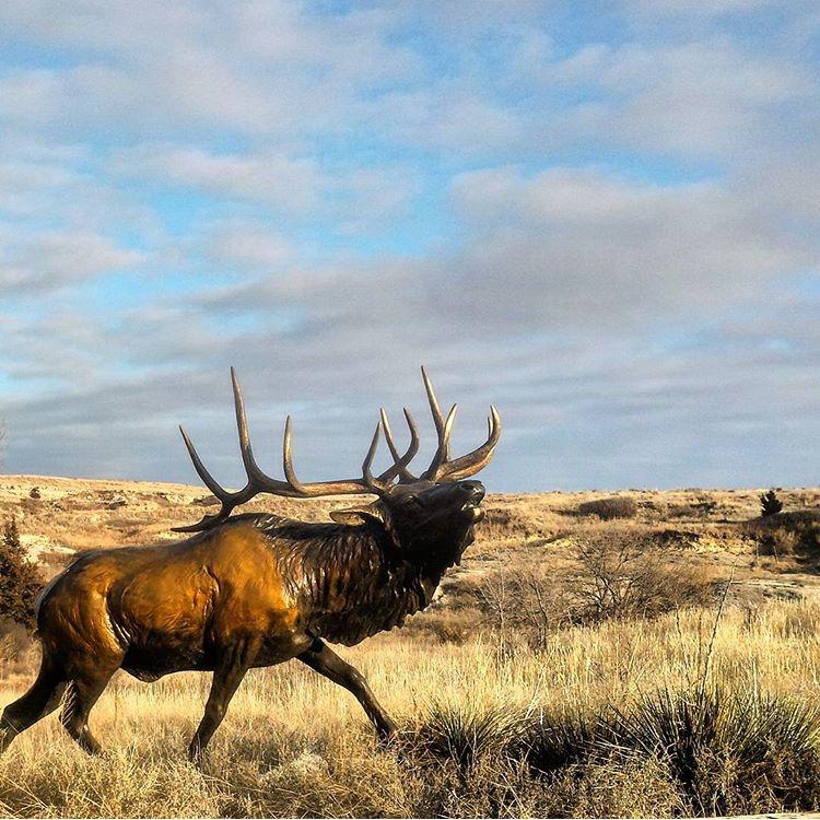 prairie bronze elk statue