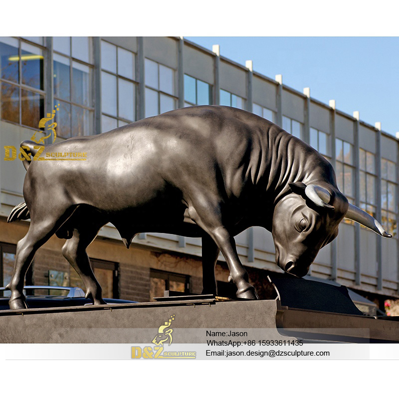 brass bull statue