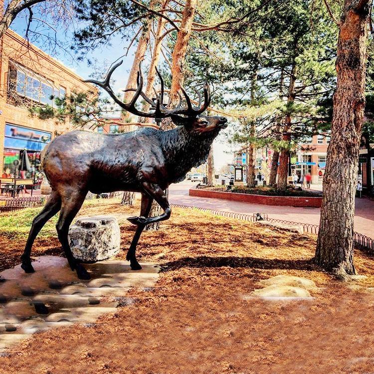 brass elk statue