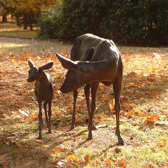 deer family statue