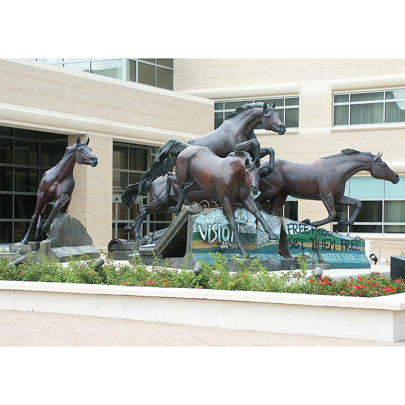 bronze statues horse for hotel