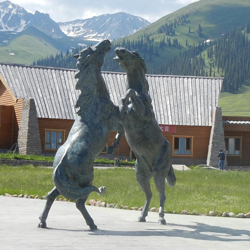 large garden sculptures horse
